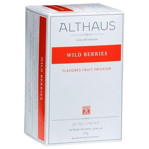 Фото - Чайный напиток фруктовый Althaus Wild Berries в пакетиках, 20 шт. фруктовый чайный напиток вишневый пунш 100 г