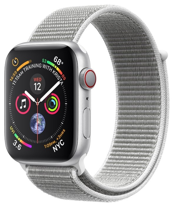 Apple Часы Apple Watch Series 4 GPS + Cellular 44mm Aluminum Case with Sport Loop