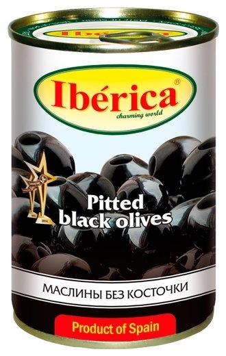 Iberica Маслины без косточки в рассоле, жестяная банка 420 г