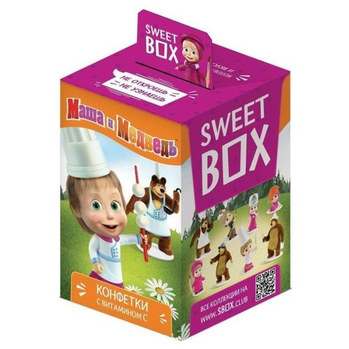 "Конфетки Sweet Box ""Маша и Медведь"" с витамином C, 10 г"