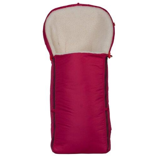 Конверт-мешок Чудо-Чадо меховой Классика 92 см вишневыйКонверты и спальные мешки<br>