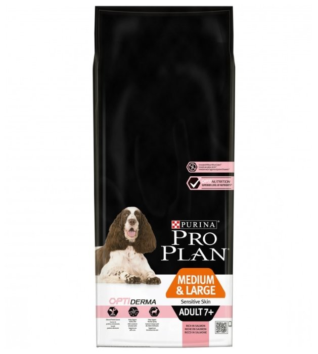 Корм для собак Purina Pro Plan Medium & Large Adult 7+ сanine Sensitive Skin dry