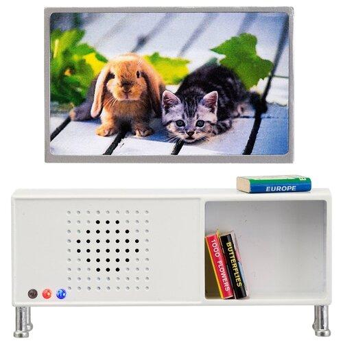 Купить Lundby Музыкальный центр и телевизор Смоланд (LB_60208200) белый/серый, Мебель для кукол