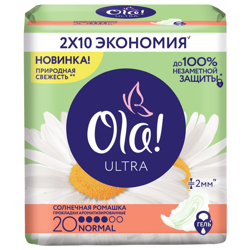 Ola! прокладки Ultra Солнечная ромашка Normal Deo 20 шт.