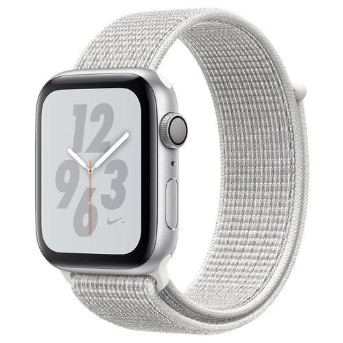 Купить Часы Apple Watch Series 4 GPS 40mm Aluminum Case with Nike Sport Loop серебристый/снежная вершина
