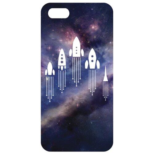 Чехол Mitya Veselkov IP5.МITYA-132 для Apple iPhone 5/iPhone 5S/iPhone SE Ракеты в космосеЧехлы<br>