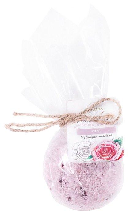 SIBERINA Бомбочка для ванны Роза, 80 г