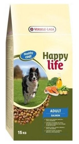 Корм для собак Happy life Adult with Salmon