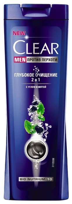 Clear шампунь 2 в 1 против перхоти для мужчин Глубокое очищение
