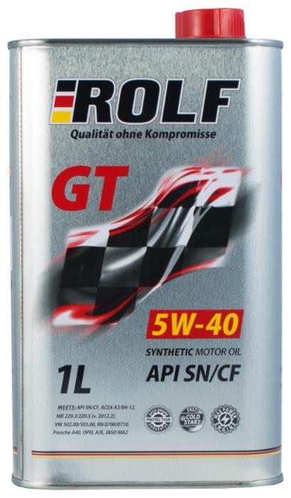 Моторное масло ROLF GT 5W-40 SN/CF 1 л
