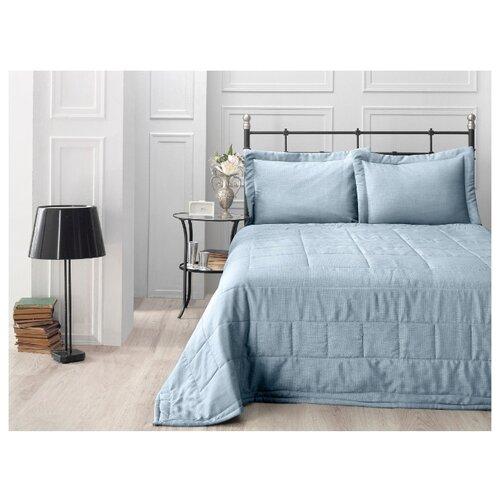 Комплект с покрывалом KARNA LINA 879 260x260 (50 x 70+5)*2 см, серо-голубой