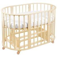 Кроватка SWEET BABY Delizia 10 в 1 с маятником (трансформер)