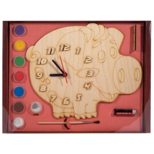 Нескучные игры Набор для росписи Часы с циферблатом Поросенок (8029/20) нескучные игры набор для росписи часы с циферблатом домик дни113
