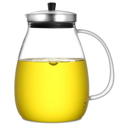 Veitron Чайник заварочный стеклянный KF-B100 1 л, прозрачный/черный