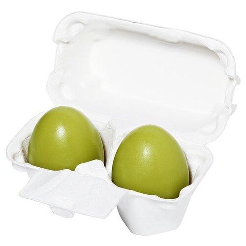 Фото - Holika Holika мыло-маска Egg Soap с зеленым чаем, 50 г, 2 шт. holika holika egg soap green tea мыло маска с зеленым чаем 50 г 2 холика холика