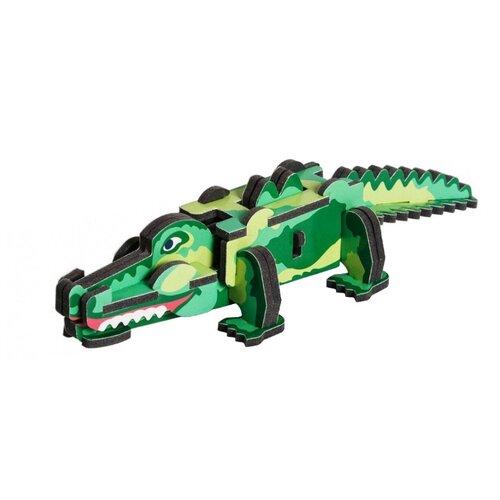 Сборная модель Умная Бумага Крокодил (087) умная бумага пазл для малышей ракета
