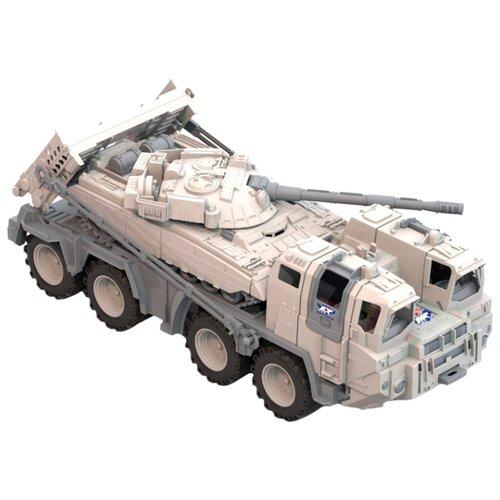 Набор техники Нордпласт Военный тягач Арктика с танком (288) белый/серый