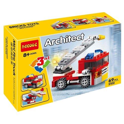 Купить Конструктор Jisi bricks (Decool) Architect 3102 Пожарная машина 3 в 1, Конструкторы