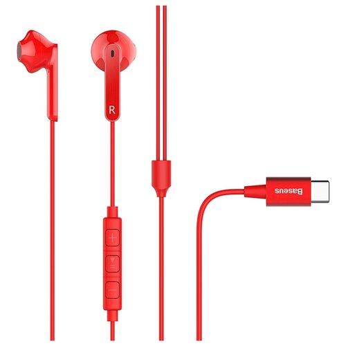 Наушники Baseus C16 red