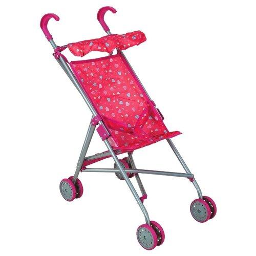 Прогулочная коляска Buggy Boom Mixy 8003 розовый/сердечки buggy boom коляска для кукол buggy boom infinia трансформер салатовая