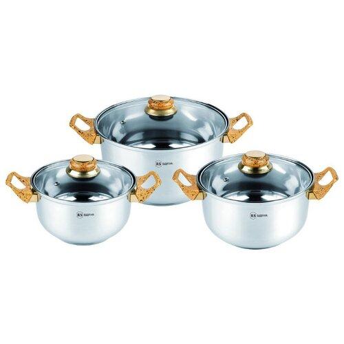 Набор кастрюль Rainstahl 1230-06RS/CW BK/WD/MRВ 6 пр. marble набор посуды rainstahl 6 предметов 1616 06rs cw