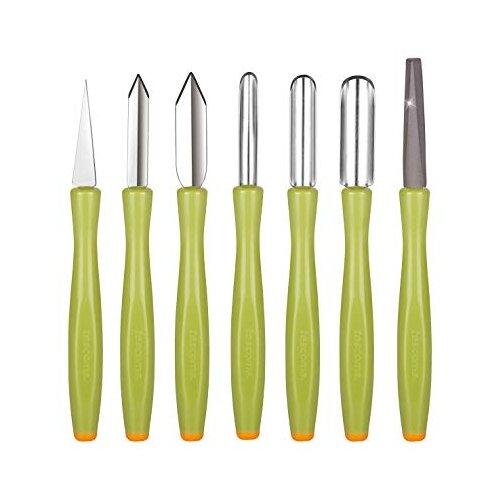 Набор для карвинга Tescoma Presto carving с точилкой, 8 шт. зеленый/серебристый