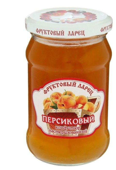 Конфитюр Фруктовый ларец персиковый, банка 350 г