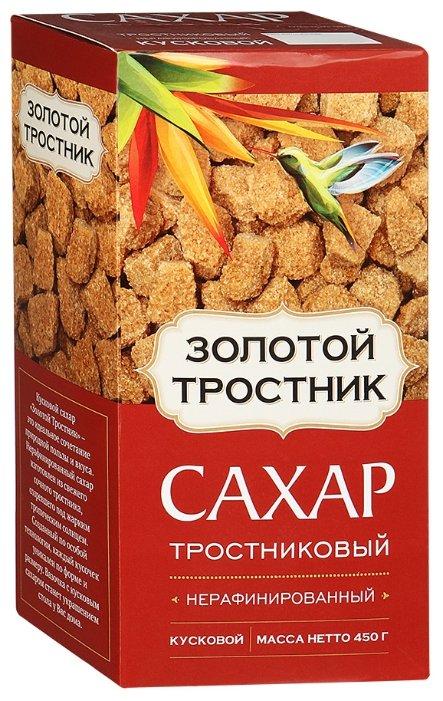 Сахар тростниковый Золотой Тростник нерафинированный кусковой 450г
