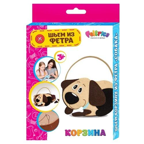Купить Feltrica Набор для творчества Шьем из фетра Корзинка для мелочей Собака, Наборы для шитья