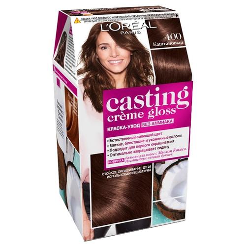 L'Oreal Paris Casting Creme Gloss стойкая краска-уход для волос, 400, Каштановый крем краска для волос casting creme gloss 400 каштановый