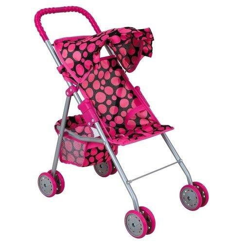 Купить Прогулочная коляска Buggy Boom Mixy (8006) черный/розовый горох, Коляски для кукол