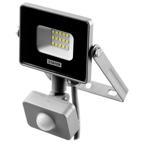 Прожектор светодиодный с датчиком движения 10 Вт STAYER 57133-10