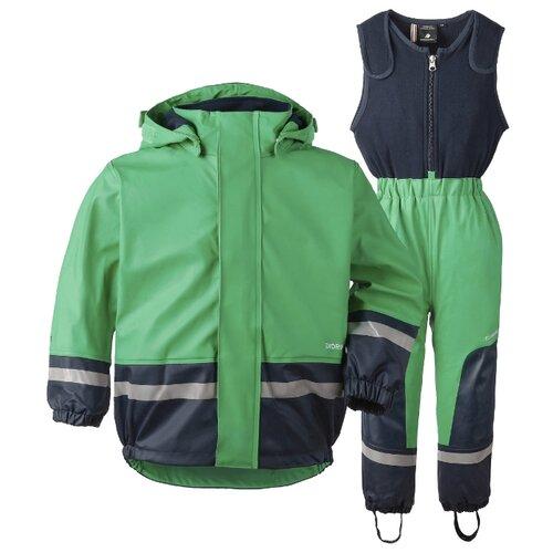 Комплект с полукомбинезоном Didriksons размер 80, 019 изумрудно-зеленыйКомплекты верхней одежды<br>