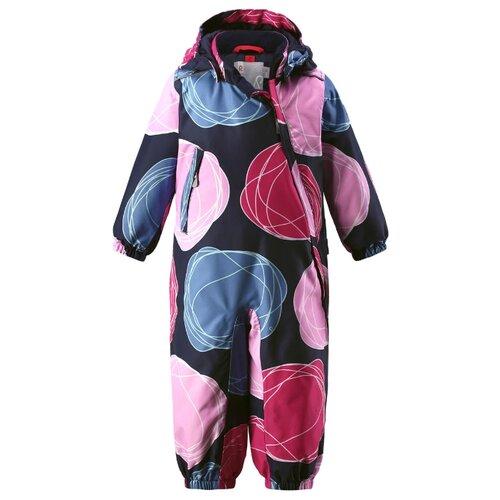 Купить Комбинезон Reima Loska 510268 размер 80, мультиколор (розовый/голубой), Теплые комбинезоны