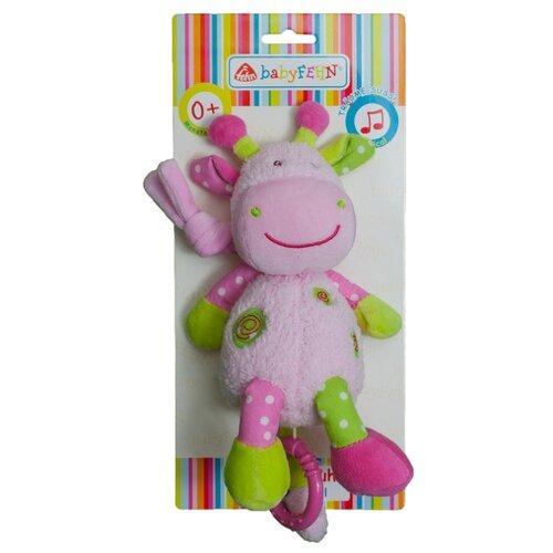 Купить Подвесная игрушка Fehn Жираф розовый/зеленый, Подвески