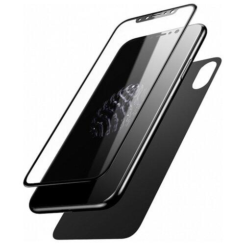 Защитное стекло Baseus Glass Film Set для Apple iPhone X черный