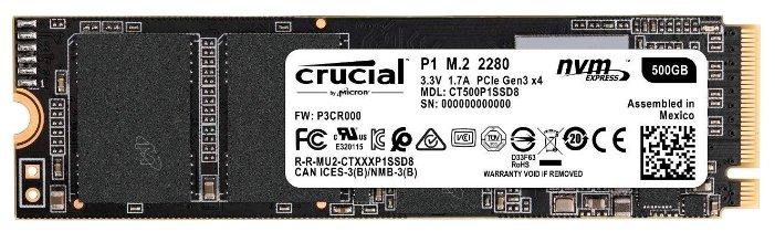 Твердотельный накопитель Crucial CT500P1SSD8