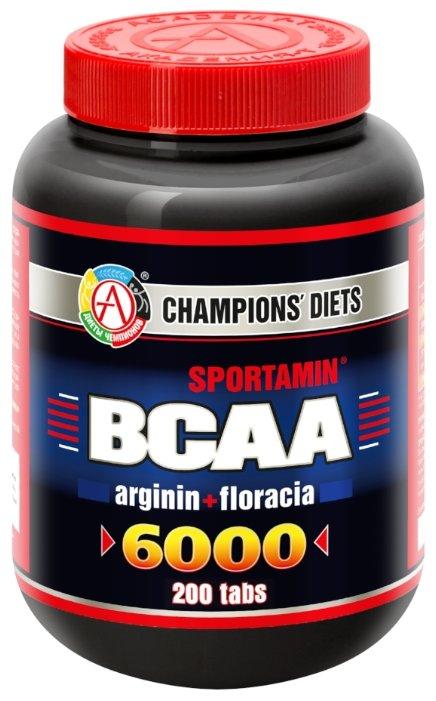Аминокислотный комплекс Академия-Т Sportamin ВСАА 6000 arginin+floracia (200 табл.)