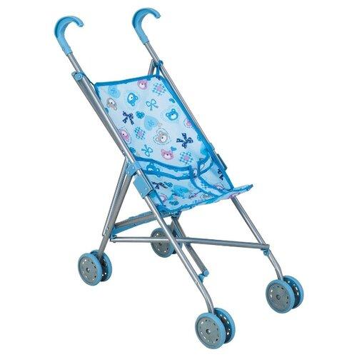 Купить Прогулочная коляска Buggy Boom Mixy 8002 голубой/бантик, Коляски для кукол