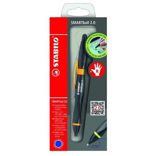 STABILO ручка-стилус шариковая Smartball 2.0 для правшей, 0.5 мм, синий цвет чернил ручка стилус sonnen 1 мм разноцветный