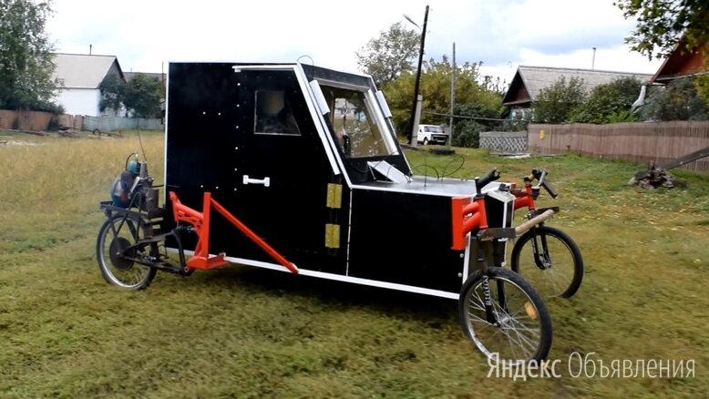Веломобиль самодельный о четырёх колёсах  по цене не указана - Велосипеды, фото 0