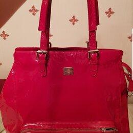 Сумки - Ярко-красная лакированная женская сумка (Италия), 0