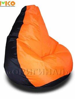 Кресла-мешки - Кресло мешок XL оксфорд чёрно-оранжевое (130х90…, 0