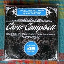 Струны - Струны Chris Campbell Electric Bass Medium 45-105, 0