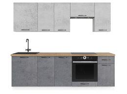"""Мебель для кухни - Кухонный гарнитур """"Одри-2"""" (Бетон Тёмный/Бетон…, 0"""