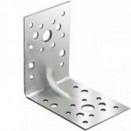 Перфорированный крепеж - Уголок крепежный усиленный 90х90х65, 0
