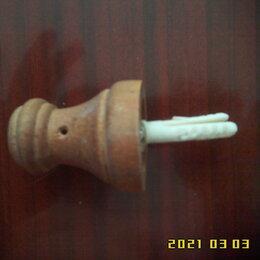 Уголки, кронштейны, держатели - Деревянный кронштейн-держатель крепления гардины к стене, 0