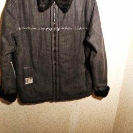 Куртки - Новая текстильная дубленка на искусственном меху 50-52р. Турция, 0