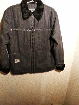 Куртки - Новая текстильная дубленка на искусственном меху…, 0