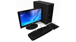 Настольные компьютеры - Комплект: Компьютер + монитор + клавиатура + мышь, 0
